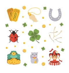 Set of the lucky charms icons vector