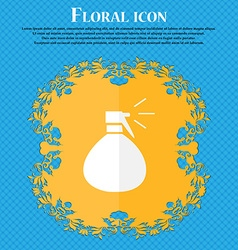 Plastic spray of water icon sign floral flat vector