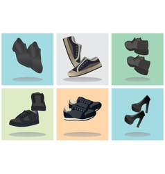 Footwear icons vector
