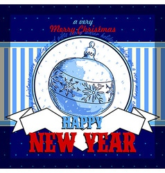 Design new year card vector
