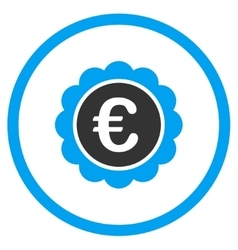 Euro reward seal rounded icon vector