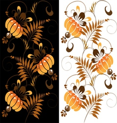 Orange ornament on a black and white background vector
