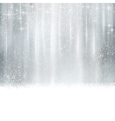 Abstract silver Christmas winter background vector image vector image