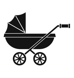Baby carriage icon simple style vector