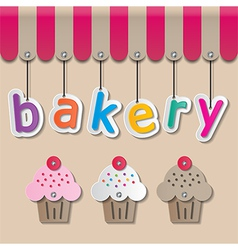 Bakery shopfront sign vector