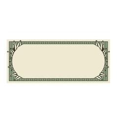 Bill dollar print seal isolated icon vector