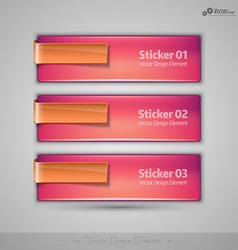 business banners editable design elements for vector image vector image