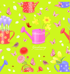 Colorful seamless texture with lovely flowers in vector