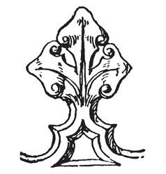 Cresting arundel church vintage engraving vector