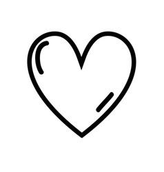 Figure cute heart love icon vector