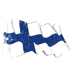 Finland Flag Grunge vector image