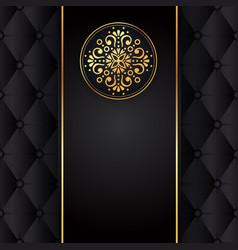 Gold Black Background Design Sun Indian Royalty Free Vector