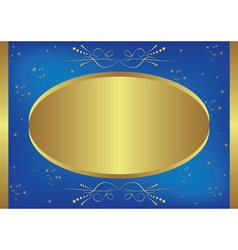 Gold-blue card with stars vector