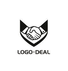 handshake logo for business vector image