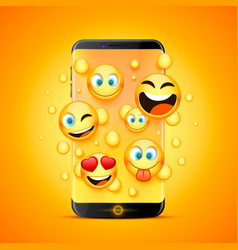 icons for emoji from the phone vector image