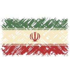 Iranian grunge flag vector image