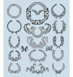 Laurel wreath set Decorative elements vector image vector image