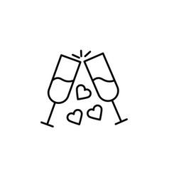 love toast icon vector image