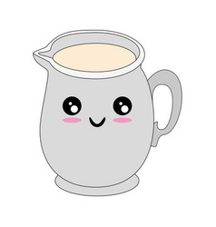 Milk pitcher icon vector