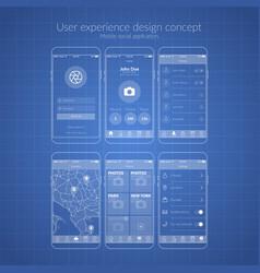 mobile application design vector image