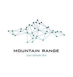 Mountain range graphic logo logo template vector