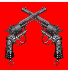 old gun vector image vector image