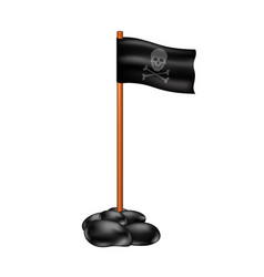 Pirate flag with skull symbol vector