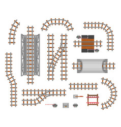 railroad platform and wagon vector image