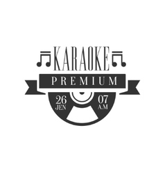 Ribbon and vinyl record karaoke premium quality vector