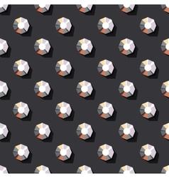 Seamless pattern of rhinestones vector