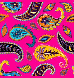 Seamless pattern paisley vector