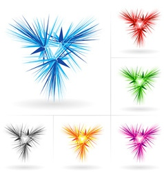 set of abstract stars icons vector image vector image