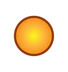 Sign shield gold round 1808 vector
