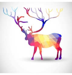 Silhouette a deer of geometric shapes vector
