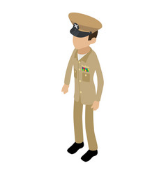 Soldier profession icon isometric 3d style vector