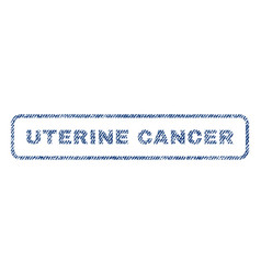 Uterine cancer textile stamp vector