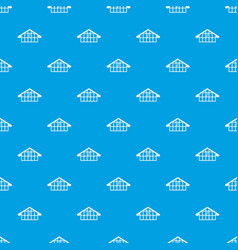warehouse pattern seamless blue vector image vector image