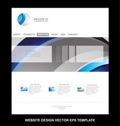 Corporate business website template vector