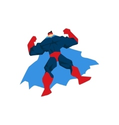 Superhero in action silhouette in different poses vector