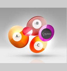 circle banner template vector image