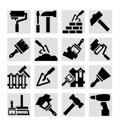 Construction and repair icons vector