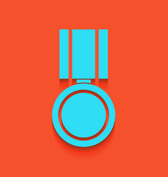 Medal sign whitish icon on vector
