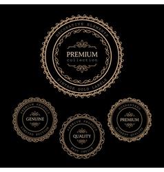 Gold labels vector
