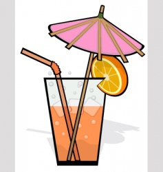 Cool refreshing drink vector