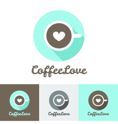 Modern flat coffee shop or cafe logo vector
