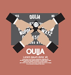 Ouija board playing vector