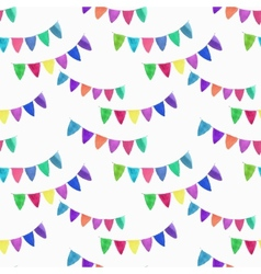 Watercolor seamless pattern with garlands on the vector
