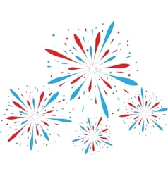 Abstract firework background vector