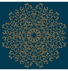 Vintage ornamental round pattern vector