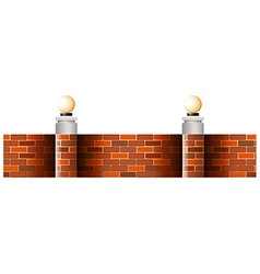 Seamless brick wall with lamps vector image